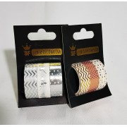 Fita Adesiva Decorativa Kit com 3 Unidades - Dourado