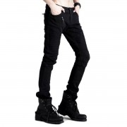 pantalon hommes PUNK RAVE - Black Engine - K-154_B