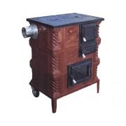 Sobă mobilă de gătit tip G, pe lemne, cu plită și cuptor, 9 kW, 90x80x48 cm
