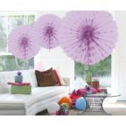 Geen Decoratie waaier lila 45 cm