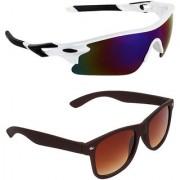 Zyaden Combo of 2 Sunglasses Sport and Wayfarer Sunglasses- COMBO 2784