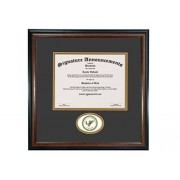 Signature Announcements Universidad de Wisconsin Parkside Undergraduate, Graduate esculpido Foil Sello Diploma Marco, 40.6 x 40.6 cm, Mate Caoba