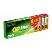 Gp Batteries Confezione 12 Batterie GP Super Alcaline Stilo AA GP15A8/LR6