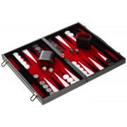 Set joc table Backgammon in stil Casino - Compact- 38x47 cm - Rosu