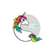 Merkloos Strandlaken/badlaken eenhoorn/unicorn Licorne wit 150 x 150 cm