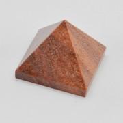 Piramida jasp caramiziu 50x50x42mm R7