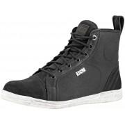 IXS Classic Nubuk-Cotton 2.0 Motorcycle Shoes Black 45