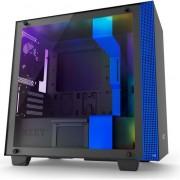 Carcasa computer nzxt h400i matte black/blue