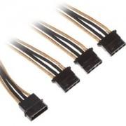 Cablu adaptor BitFenix Alchemy 4-pini Molex la 3x 4-pini Molex, 55cm, gold/black, BFA-MSC-M3MAKK-CK