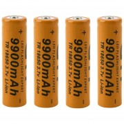 ER 4pcs 18650 3.7V 9900mAh Batería Recargable Li-ion Para Linterna Antorcha