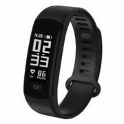Bratara Smart ZEBLAZE Plug Bluetooth waterproof IPS sport fitness tracker pentru Android si iOS negru