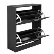 Шкаф за обувки [en.casa]®, за 12 чифта, 63 x 24 x 81cm, Сив