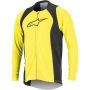 Alpinestars Drop 2 Full Zip Camisa de manga larga de bicicleta Amarillo/Negro XXL