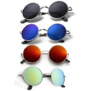 Lee Topper Round Sunglasses(Multicolor)