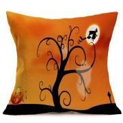 Halloween Decoration Pattern Car Sofa Pillowcase with Decorative Head Restraints Home Sofa Pillowcase M Size:43*43cm -HC3203M