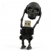 Skeleton Shape USB 2.0 Flash Drive 4/8/16/32/64 GB - Negro
