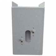 Corner block for outdoor wall lights, silver