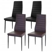 4x Esszimmerstuhl Lixa, Stuhl Lehnstuhl, Kunstleder schwarz ~ Variantenangebot
