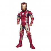 Costum pentru baieti Iron Man Deluxe, varsta 3-4 ani, marime S