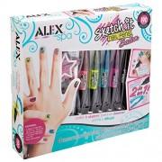Alex Toys Spa Sketch it Nail Pen Salon, Multi Color