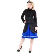 manteau pour femmes printemps-automne HEARTS AND ROSES - Noire Military Cyber Rave - 0928