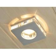 aniba Design Lumière à encastrer avec éléments en verre décoratifs Dimensions: env. Larg./Haut./Profondeur 9x9x4,3 cm, Argent