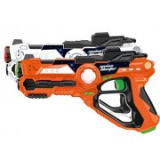 Laser Gun Set For Kids And Adults TG666 - Infrared Laser Tag Game For Boys & Girls (2 Blasters Included) - Cool Blaster Sounds With Optional 4 team Multiplayer Selection By ThinkGizmos
