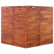 vidaXL Jardinieră de grădină, lemn de acacia, 100 x 100 x 100 cm