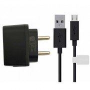 New 1 AMP Charger with Micro USB Cable for Micromax All Models - Black