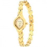 Evelyn Stainless Steel Gold Plated Wrist Watch for Women-EVE-540
