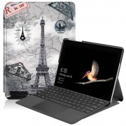 Lunso 2-Vouw sleepcover hoes - Microsoft Surface Go - Eiffeltoren