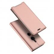 DUX DUCIS Skin Pro Flipes tok telefon tok Sony Xperia XZ3 rózsaszín