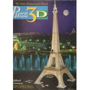 Eiffel Tower, 703 Piece 3D Jigsaw Puzzle Made by Wrebbit Puzz-3D