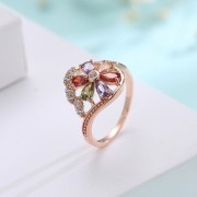 American Diamond Rose Gold Crystal Stone Studded Ring Buy Designer Imitation Jewellery online