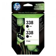 HP 338 svart bläckpatron, original, 2-pack