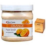 BIOCARE Orange Face Scrub 500 ML Pink Root Golden Bleach Pack of 2