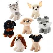 "7PCS Cuddly Plush Soft Baby Stuffed Animals Toy Emulation Dog Doll 7 "" Kids' Plush Plush Doll Party Toys Fiesta Toy For Graduation Valentine's Day Birthday Xmas Christmas Wedding Best Gifts Presents"