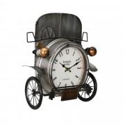 Стенен часовник [en.casa]® Античен автомобил -с аналогови стрелки - 33 x 13 x 36 см. - цветен - стъкло