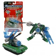 "Hasbro Year 2004 Transformers Energon ""The Powerlinx Battles"" Combiners Class Series 4 1/2 Inch Tall Robot Action Figure Decepticon Kickback D4 With Energon Double Turret Cannon Blaster And Energon (Vehicle Mode: Battle Tank)"