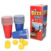 Geen Drankspel/drinkspel beer pong set met red en blue cups