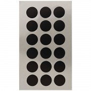 Merkloos 216x Zwarte ronde sticker etiketten 15 mm