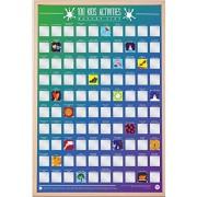 Gift Republic Póster de lista de actividades infantiles (100 unidades), multicolor