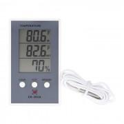 Cubierta LCD Digital / al aire libre termometro higrometro - Gris