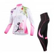 Set Poliéster Licra Y Jersey Ciclismo Mtb Ruta Bicicleta Mujer BATFOX BT002