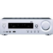 Onkyo »R-N855« Stereo-Receiver (WLAN, Bluetooth, iPod-/iPhone-Steuerung, 2 Lautsprecherkanäle), silberfarben