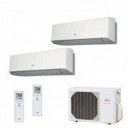 Fujitsu Condizionatore Dual Split Parete Gas R410A Serie LM 7000+7000 Btu ASYG07LMCE ASYG07LMCE AOYG14LAC2 A++/A+