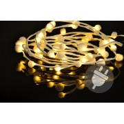Karácsonyi LED világítás - hópelyhek - 48 LED, meleg fehér