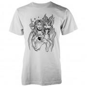 Abandon Ship Camiseta Abandon Ship Jesus and Devil - Hombre - Blanco - M - Blanco