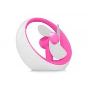 Wiatraczek pod USB lub na baterie Różowy - Różowy
