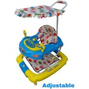 Oh Baby Baby Car Shape Adjustable Walker 9 in 1 Function With Musical Light Blue Color Walker For Your Kids SE-W-68
